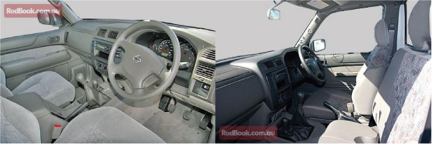 Interior of a nissan Patrol GU